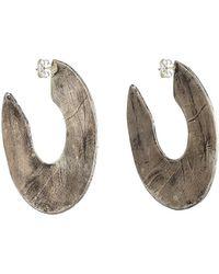 Simon Miller - Stone Hoop Earrings - Lyst