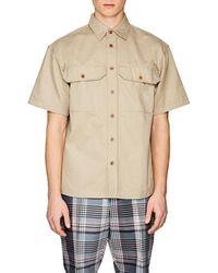 Gosha Rubchinskiy - Cotton Twill Shirt - Lyst