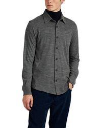 Brioni - Wool-cashmere Piqué Long-sleeve Polo Shirt - Lyst