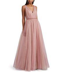 J. Mendel Embellished Tulle Gown - Pink