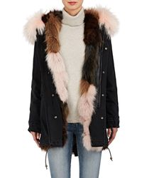 Mr & Mrs Italy - Fur-lined Denim Midi - Lyst