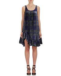 Jourden - Ruffle Plaid Velvet Dress - Lyst
