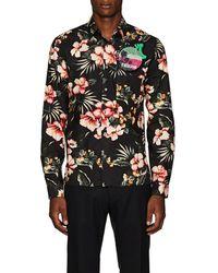 Valentino - Slim-fit Embellished Printed Cotton Shirt - Lyst