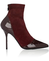 Pierre Hardy - Dolly Suede & Patent Leather Ankle Boots - Lyst