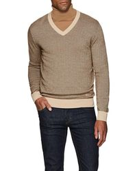 Brioni - Wool-blend Herringbone V - Lyst
