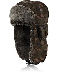 Crown Cap | Camouflage Melton Trapper Hat | Lyst