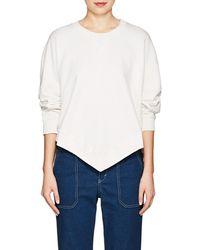 MM6 by Maison Martin Margiela - Oversized Cotton Terry Sweatshirt - Lyst