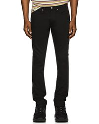 Acne Studios Max Organic-cotton-blend Skinny Jeans - Black