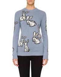 Prada | Bunny-motif Wool | Lyst