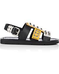 Prada - Studded Leather Sandals - Lyst