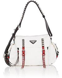 Prada - Leather-trimmed Messenger Bag - Lyst