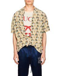 Gucci - Anime-print Silk Bowling Shirt - Lyst