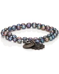 Miracle Icons - Vintage-icon Pearl Wrap Bracelet - Lyst