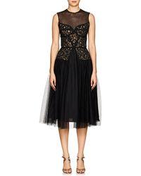 Sophia Kah - Lace & Tulle Cocktail Dress - Lyst
