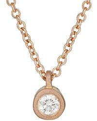 Tate - White Diamond Pendant Necklace - Lyst