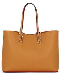 Christian Louboutin Cabata Leather Tote Bag - Brown