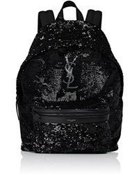 Saint Laurent - Sequined Classic Backpack - Lyst