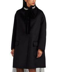 Prada 2-in-1 Wool-blend Coat - Black