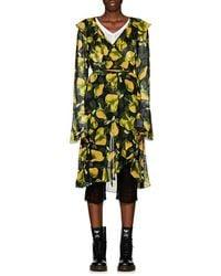 Marc Jacobs - Pear-print Georgette Wrap Dress - Lyst