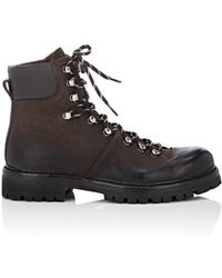 Barneys New York - Oiled Suede Hiking Boots - Lyst