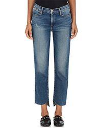 FRAME - Le High Cascade Hem Straight Jeans - Lyst