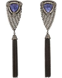 Carole Shashona - Bleu Waterfall Drop Earrings - Lyst