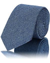 Barneys New York - Textured Silk-cotton Necktie - Lyst