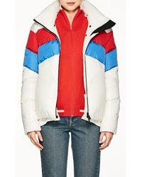 Moncler Grenoble - Lamar Striped Puffer Coat Size 4 - Lyst