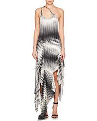 JW Anderson - Striped Jersey Asymmetric Dress - Lyst