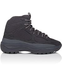 Yeezy - Mixed-material Military Boots - Lyst