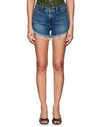 L'Agence Ryland Denim Cutoff Shorts - Blue