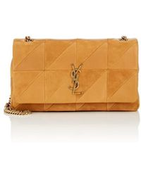 Saint Laurent - Monogram Jamie Medium Leather   Suede Chain Bag - Lyst db5715b423aac
