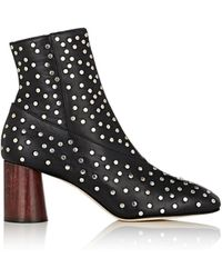 Helmut Lang - Studded Leather Ankle Boots - Lyst