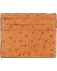 Barneys New York - Ostrich Card Case - Lyst