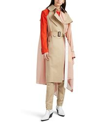 Sacai - Colorblocked Patchwork Trench Coat - Lyst