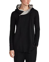 Rick Owens - Double-faced Cotton & Cashmere Hooded Cardigan - Lyst