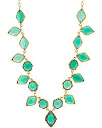 Cathy Waterman - Green Onyx Centerpiece Necklace - Lyst