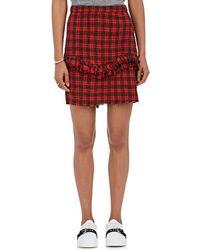 NSF - Carmen Cotton Plaid Miniskirt - Lyst