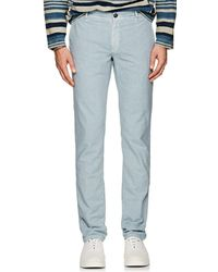Incotex - S-body Slim Cotton Gabardine Trousers - Lyst
