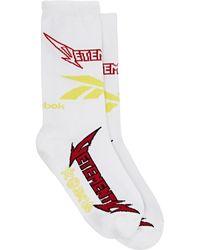 Vetements - X Reebok Metal Cotton Blend Socks - Lyst