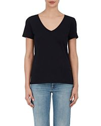 Barneys New York - Pima Cotton V-neck T - Lyst