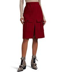 Chloé High-rise Wool-crêpe Skirt - Red