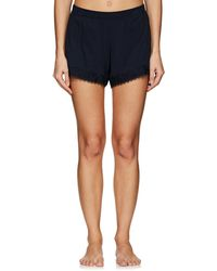 Skin - Quientin Lace-trimmed Pima Cotton Shorts - Lyst