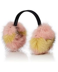 Barneys New York - Fox Fur Earmuffs - Lyst