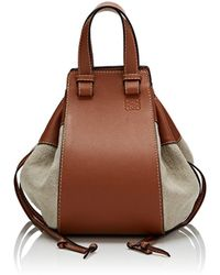 Loewe - Hammock Medium Canvas & Leather Bag - Lyst