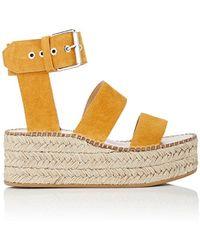 Rag & Bone - Tara Suede Wedge Sandals - Lyst