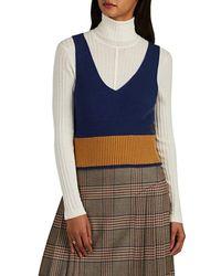 The Gigi - Sonia Colorblocked Rib-knit Top - Lyst