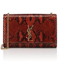 Saint Laurent - Monogram Kate Medium Python Shoulder Bag - Lyst