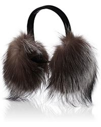 Barneys New York - Fur Earmuffs - Lyst