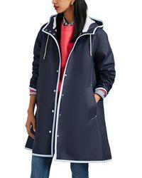 Stutterheim Mosebacke Raincoat Size S - Blue